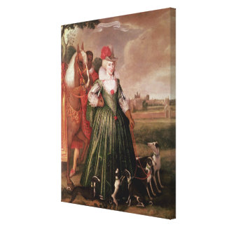 Anne of Denmark, 1617 Canvas Print