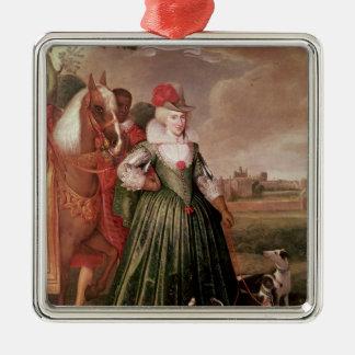 Anne of Denmark, 1617 Silver-Colored Square Decoration