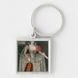 Anne of Denmark, c.1605-10 Silver-Colored Square Key Ring