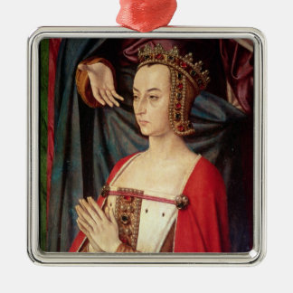 Anne of France Silver-Colored Square Decoration
