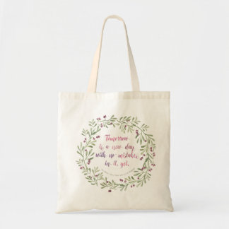 Anne of Green Gables Tote - Tomorrow... Quote