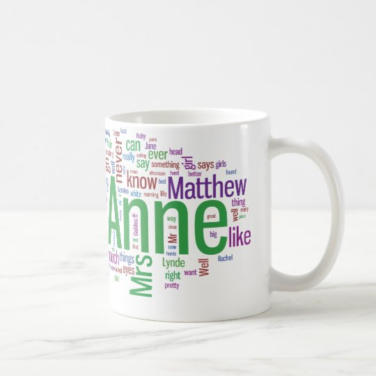 Anne of Green Gables Word Cloud Coffee Mug