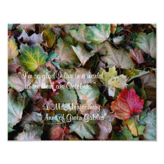 Anne Shirley October Quote Photographic Print