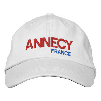 Annecy, France Personalized Adjustable Hat Embroidered Baseball Caps