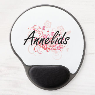 Annelids with flowers background gel mouse pad
