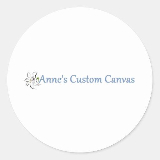 Anne's Custom Canvas Round Sticker