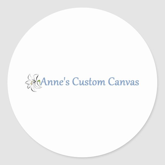 Anne's Custom Canvas Round Sticker