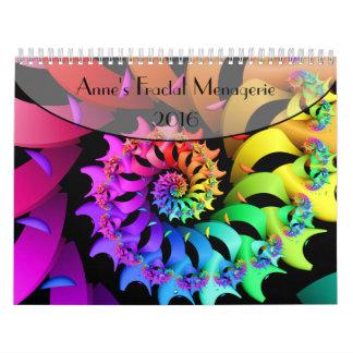Anne's Fractal Menagerie 2016 Wall Calendar
