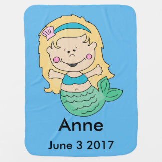 Anne's Personalized Mermaid Baby Blanket