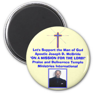 AnniCross_Love, image003, Let's Support the Man... 6 Cm Round Magnet