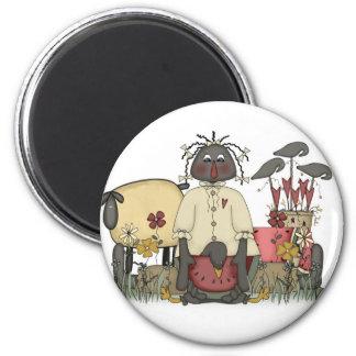 Annie Doll Sheep & Crows Magnet