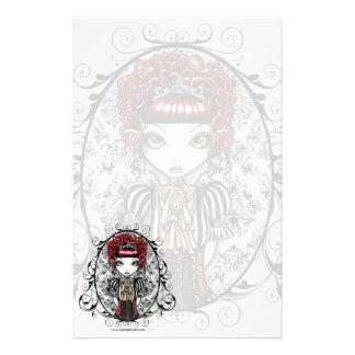 """Annie"" Gothic Victorian Couture Fairy Stationery"
