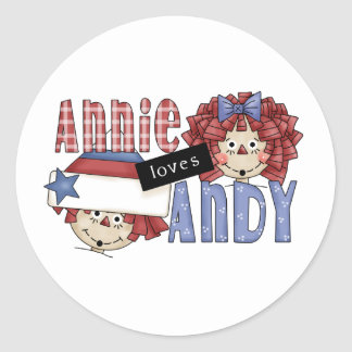 Annie Loves Andy Ragdoll Classic Round Sticker