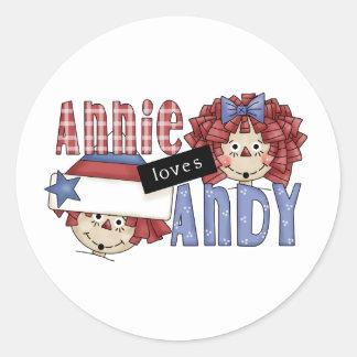 Annie Loves Andy Ragdoll Round Sticker