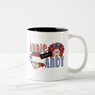 Annie Loves Andy Ragdoll Two-Tone Coffee Mug