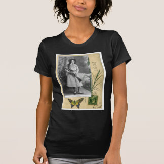 Annie Oakley Vintage Photo Butterfly Cowgirl T-Shirt