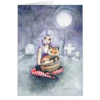 Annie s Fox Greeting Card by Molly Harrison