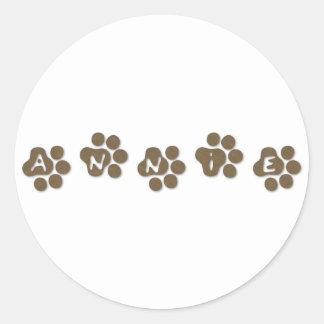 Annie Round Stickers