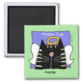 Annie tabby cat angel magnet