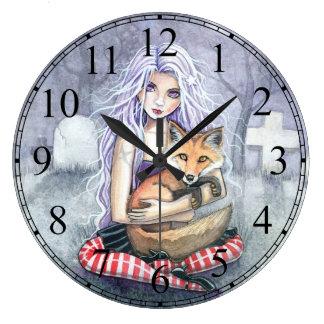 Annie's Fox Fairytale Fantasy Gothic Art Clock
