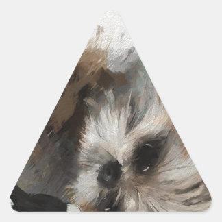 Annies silken weavessml triangle sticker