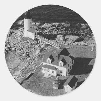 Annisquam Harbor Lighthouse Round Sticker