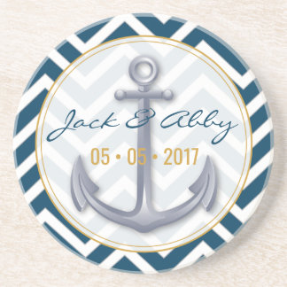 Anniversary Anchor Coaster