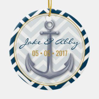 Anniversary Anchor Ornament