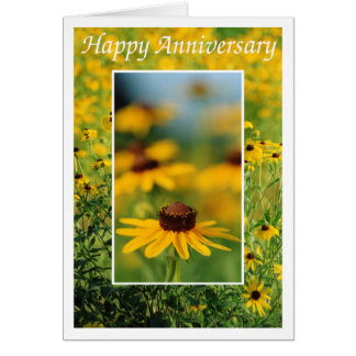 Anniversary - Black-Eyed Susans Greeting Card