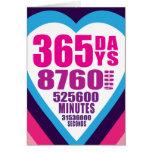 Anniversary Card - 365 Days - 1 Love