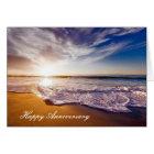 Anniversary card with Beautiful Beach Shoreline