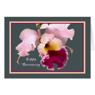 Anniversary Card with Phalaenopsis Orchid