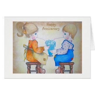 Anniversary card- You, Me and a Blue Heaven shake Card
