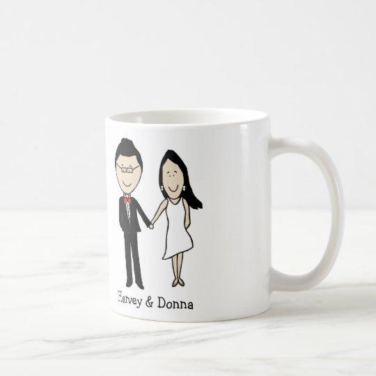 Anniversary couple- personalised cartoon coffee mug