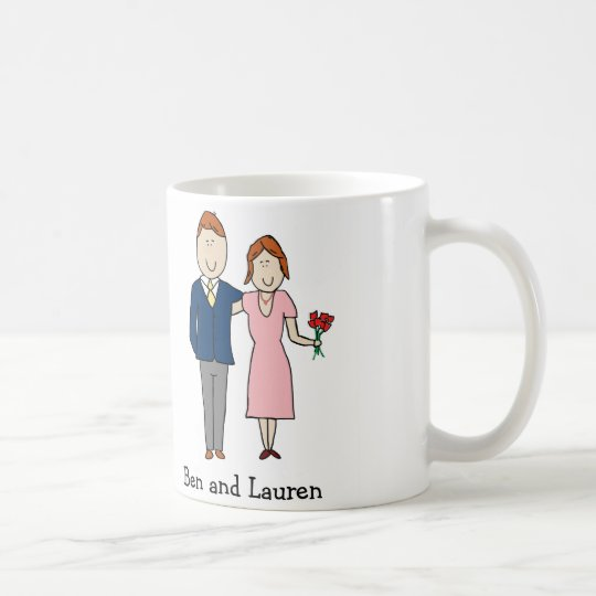 Anniversary couple- personalised cartoon mug
