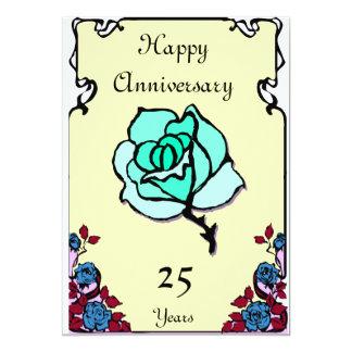 Anniversary - Customizable 13 Cm X 18 Cm Invitation Card
