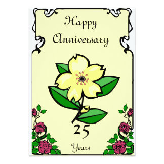 Anniversary - Customizable number 5x7 Paper Invitation Card