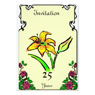 Anniversary - Daf - Customizable 5x7 Paper Invitation Card