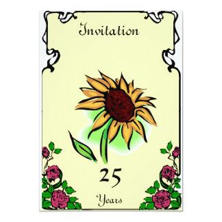 Anniversary - daisy - Customizable 5x7 Paper Invitation Card
