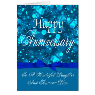 Anniversary Daughter And Son-in-Law Greeting Card
