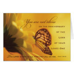 Anniversary Death of Loved One Butterfly Greeting Card