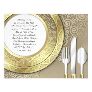 Anniversary Dinner Formal Invitation