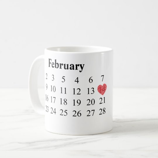 Anniversary Gift - Calendar & Engraved Rings Coffee