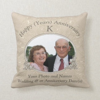 Anniversary Gift Ideas with PHOTO and YOUR TEXT Cushion