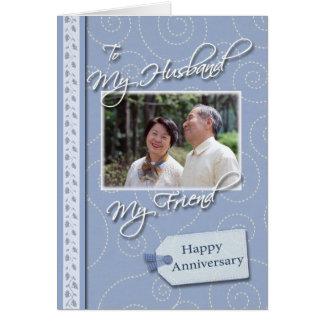 Anniversary, Husband - Photo card template