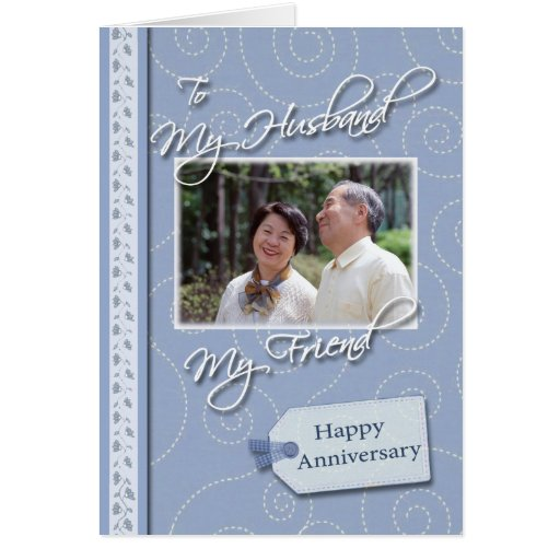 Anniversary, Husband - Photo card template