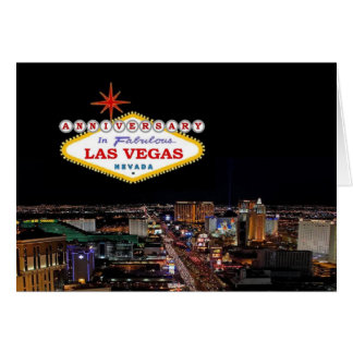 ANNIVERSARY In Fabulous Las Vegas Card