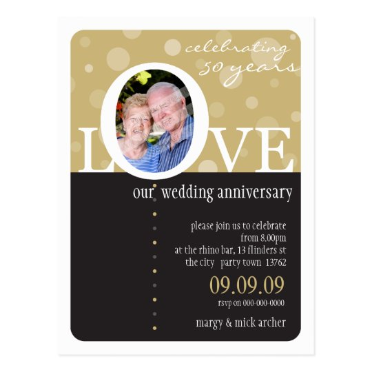 ANNIVERSARY INVITATION :: LOVEbubbles 1 Postcard