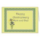 Anniversary Iris for Mum and Dad Card
