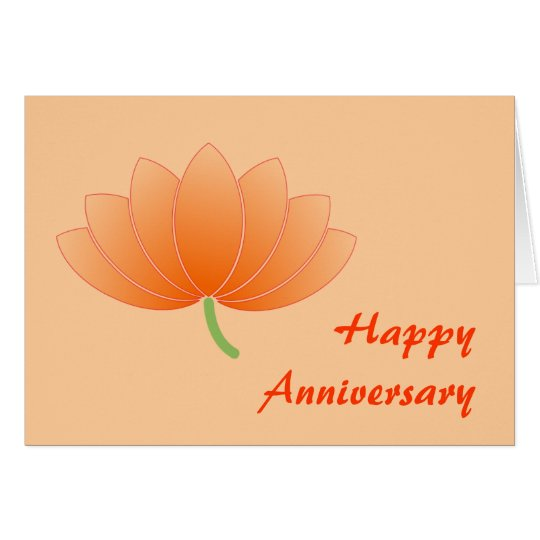 Anniversary Japanese Lotus Card - Customise!